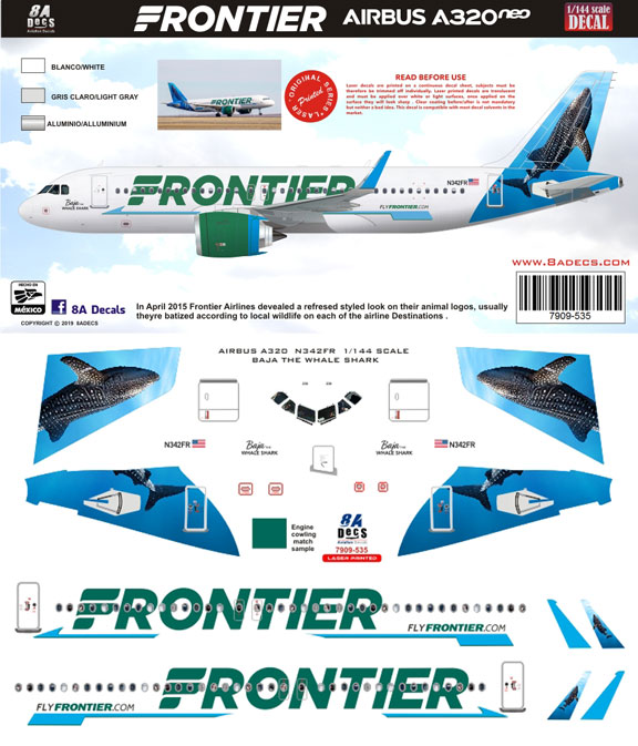 8A-535-Frontier-A320-Baja-Instructions-and-Decal-812-W