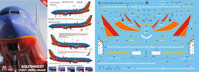 8A-537 Southwest Canyon Blue B7837-800 Instructions and Decal-812