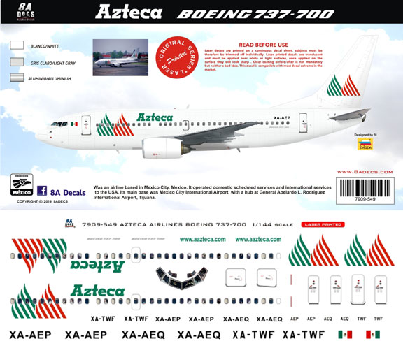 8A-549-Azteca-Airlines-Boeing-737-700-Profile-and-Decal-812-W