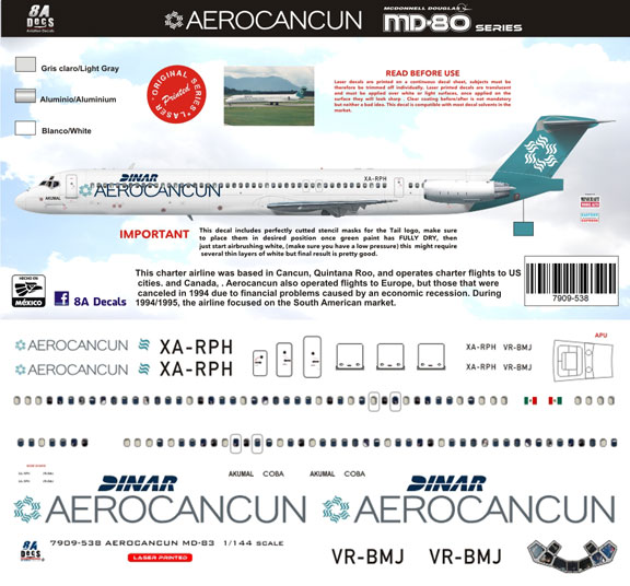 8A144-538-AeroCancun-McDD-MD80-Profile-and-Decal-812-W
