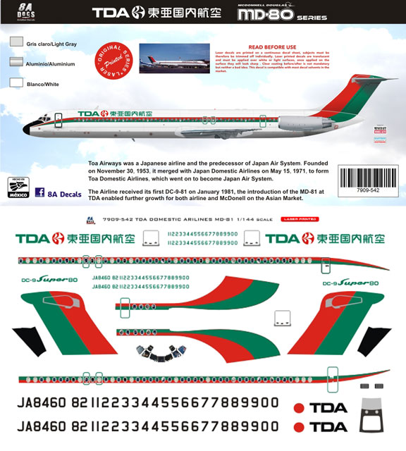 8A144-542-TOA-Domestic-McDD-MD80-Profile-and-Decal-812-W