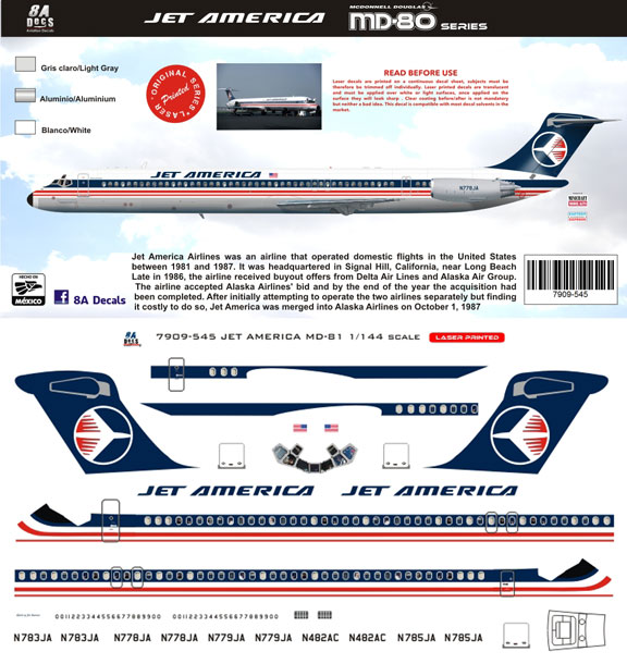 8A144-545-Jet-America-McDD-MD80-Profile-and-Decal-812-W