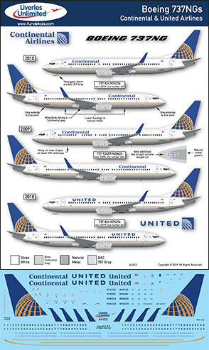 FunD44-012-Continental-United-B737NG-Profile-and-Decal-Small-W