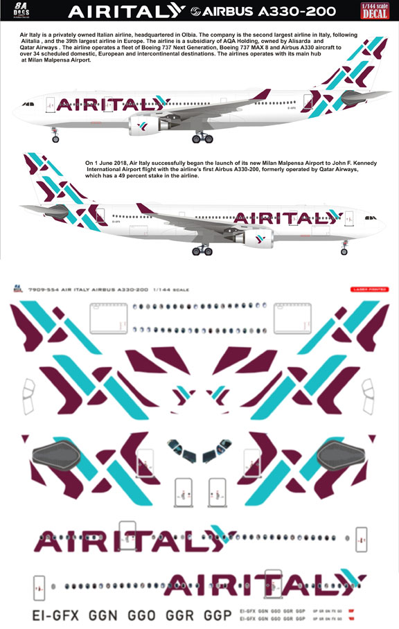 8A-554-Air-Italy-Airbus-A.330-200-Profile-and-Decal-812-W