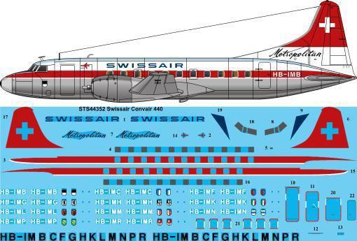 STS44-352-Swissair-Convair-440-W