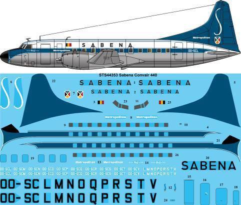 STS44-353-Sabena-Convair-440-W