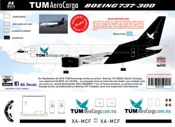 8A-559-Tum-AeroCargo-Boeing-737-300-Profile-and-Decal-812-W