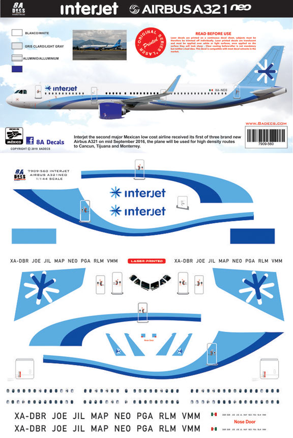 8A-560-Interjet-Airbus-A321NEO-Profile-and-Decal-812-W