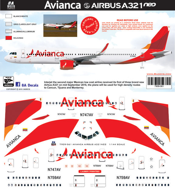 8A-561-Avianca-Airbus-A321NEO-Profile-and-Decal-812-W