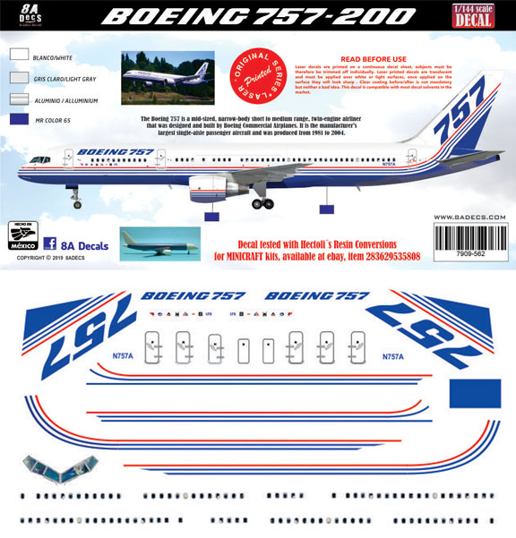 8A-562-Boeing-Prototype-757-200-Profile-and-Decal-812-W