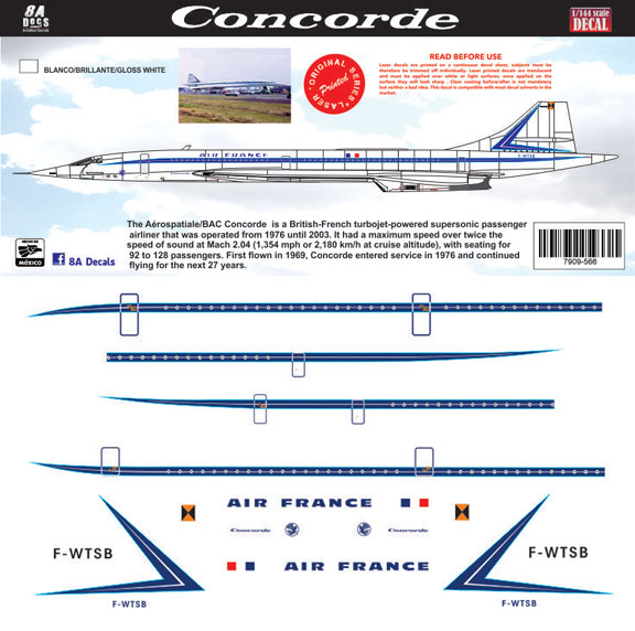 8a-566-Air-France-1970-Concorde-Profile-and-Decal-812-W