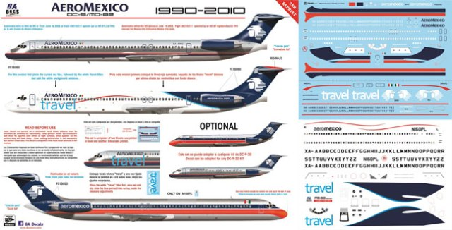8A-244-Aeromexico-MD80-Instructions-and-Decal-912-W