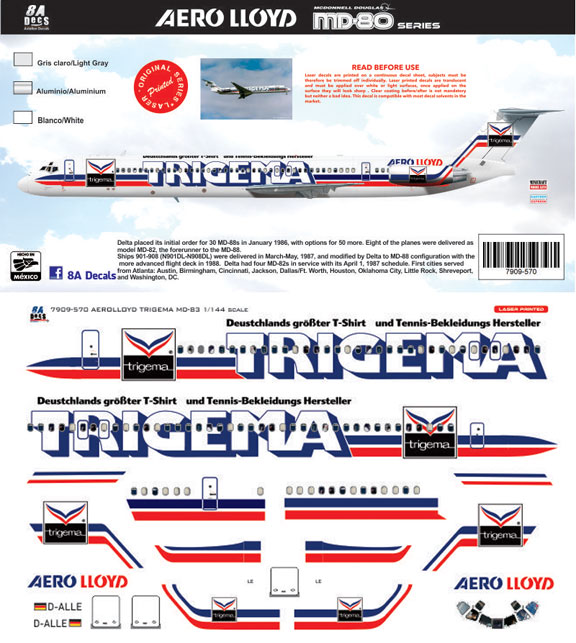 8A-570-Aero-Lloyd-Trigema-MD80-Instructions-and-Decal-812-W