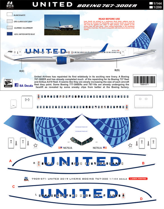 8A-571-United-B767-300-Instructions-and-Decal-812-w