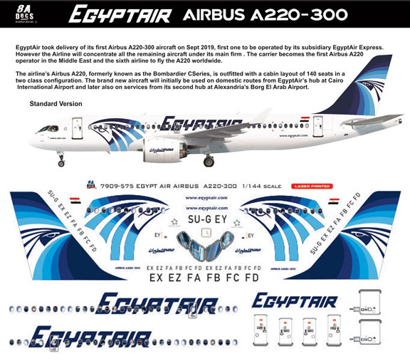 8A-575-E-Egyptair-A220-Instructions.-and-Decal-812-W