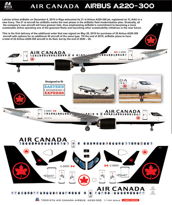 8A-576-Air-Canada-A220-Instructions-and-Decal-812-W