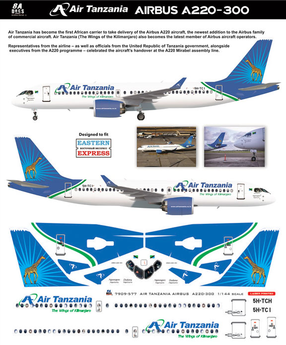 8A-577-Air-Tanzania-A220-Instructions-and-Decal-812-W