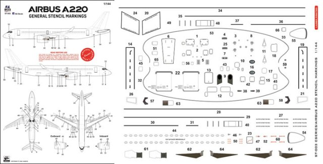 8A-ST-003-Airbus-A220-Stencils-Instructions-and-Decal-1012-W