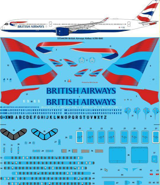STS44-350-British-Airways-Airbus-A350-1041-W
