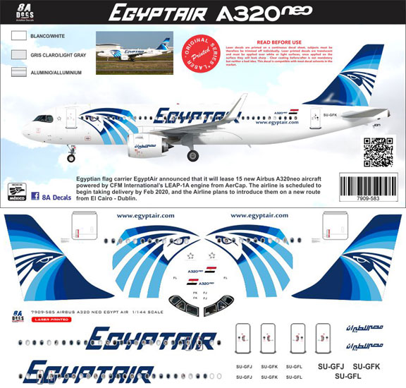 8A-583-Egyptair-A320NEO-Instructions-and-Decal-812-W