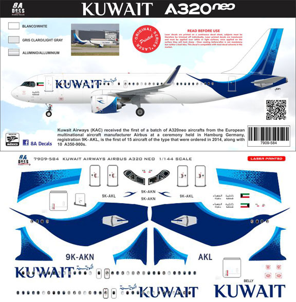 8A-584-Kuwait-Awys-A320NEO-Instructions-and-Decal-812-W