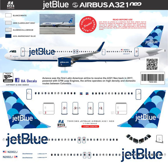 8A-585-JetBlue-A321NEO-Instructions-and-Decal-812-W