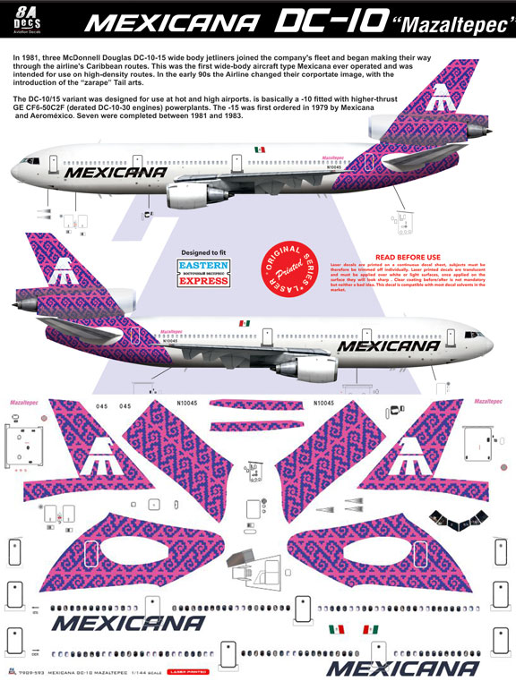 8A-593-Mexicana-(purple-cs)-McDD-DC-10-Instructions-and-Decal-812-W