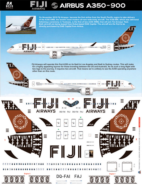 8A-606-Fiji-Airways-Airbus-A350-900-Profile-and-Decal-812-W