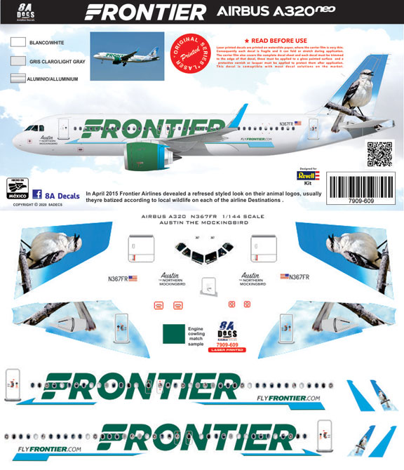 8A-609-Frontier-A320NEO-Instructions-and-Decal-812-W