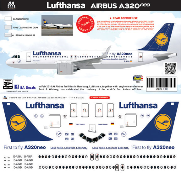 8A-610-Lufthansa-A320NEO-Instructions-and-Decal-812-W
