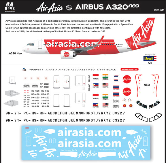 8A-611-Air-Asia-A320NEO-Instructions-and-Decal-812-W