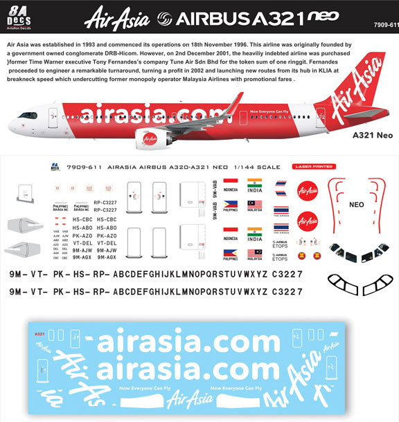 8A-611-Air-Asia-A321NEO-Instructions-and-Decal-812-W