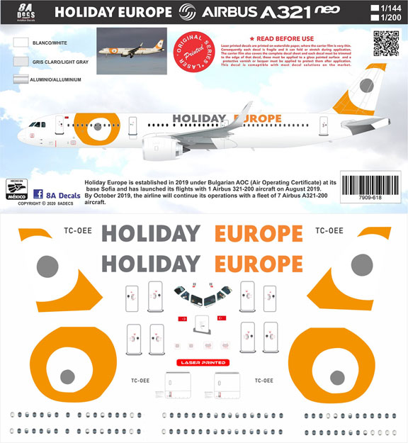 8A-618-Holiday-Europe-A321NEO-Instructions-and-Decal-812-W