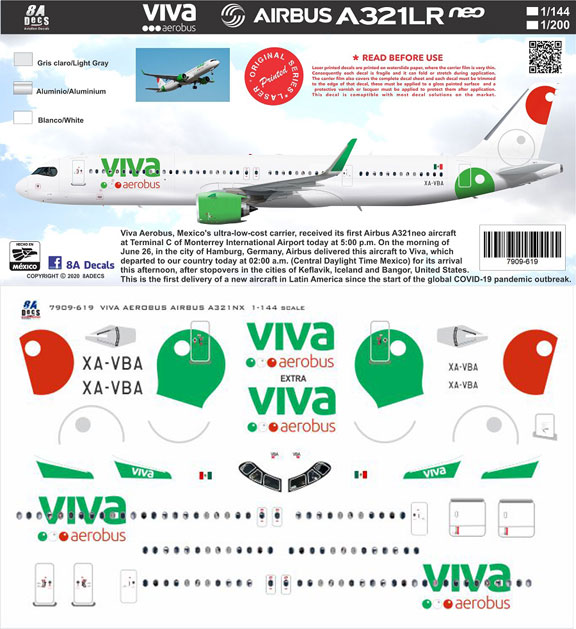 8A-619-Viv-Aerovus-A321NEO-Instructions-and-Decal-812-W