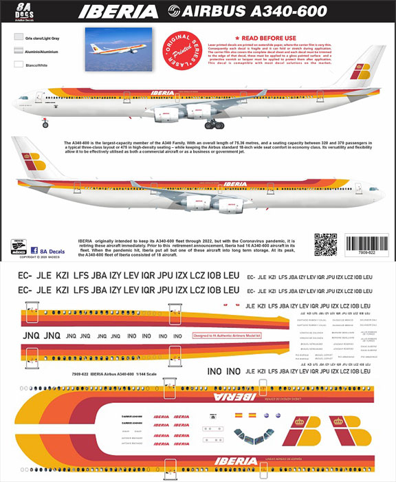 8A-622-Iberia-A340-600-Profile-and-Decal-812-W