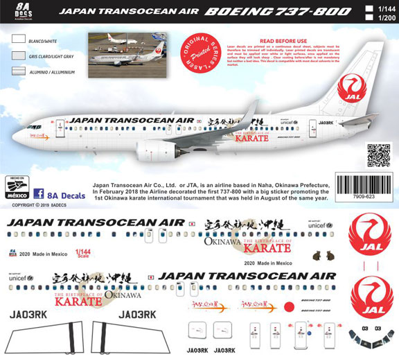 8A-623-JTA-Karate-Boeing-737-800-Instructions-and-Decal-812-W