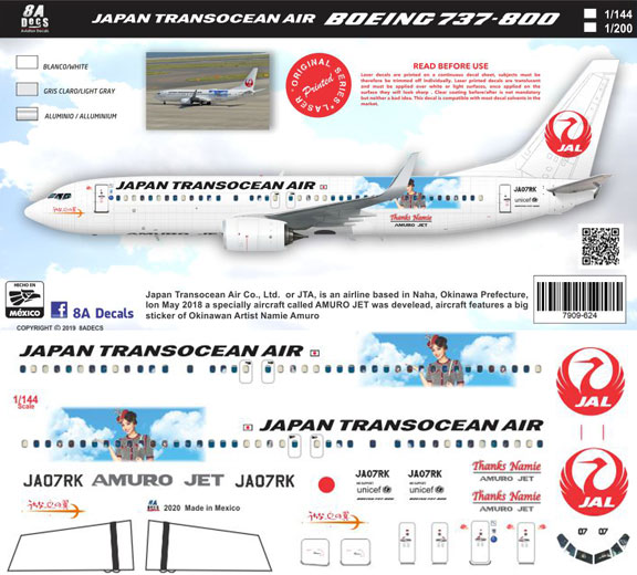 8A-624-JTA-Namie-Amuro-Boeing-737-800-Instructions-and-Decal-812-W