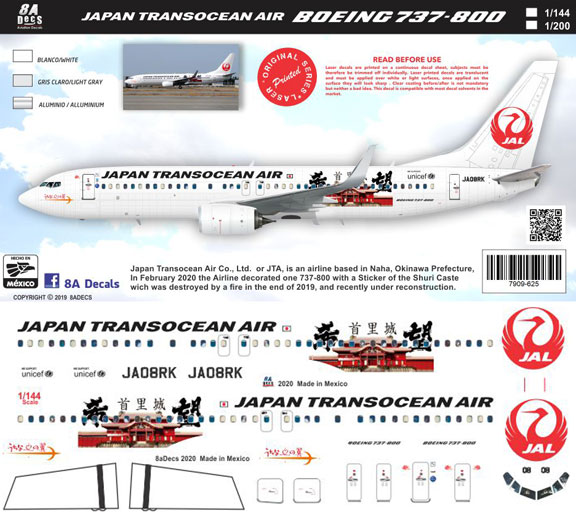 8A-625-JTA-Shuri--Boeing-737-800-Instructions-and-Decal-812-W