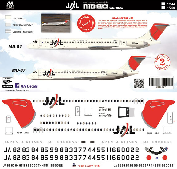 8A-627-Japan-Airlines-MD80-MD87-Profile-and-Decal-812-W